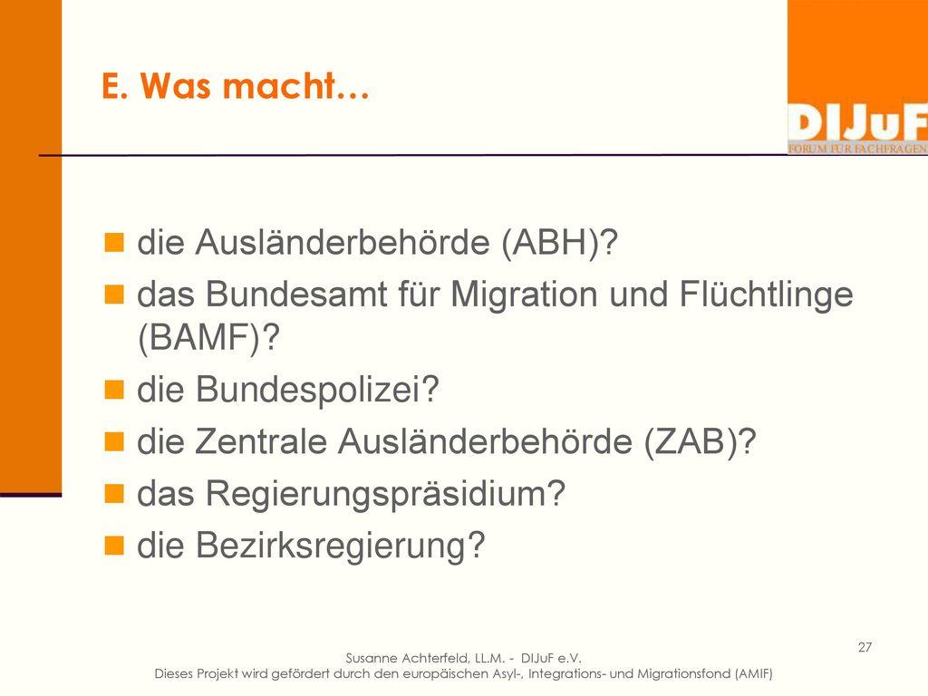 E. Überblick Hohe Anerkennungsquote im Asylverfahren