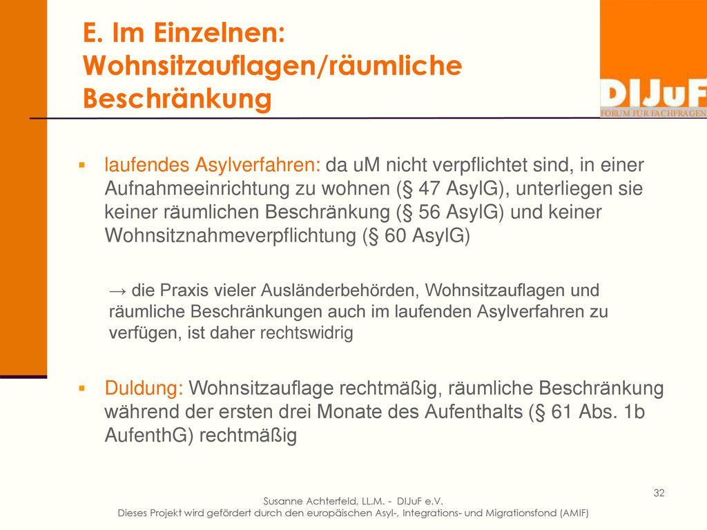 E. Im Einzelnen: Asylantragstellung § 14 AsylG