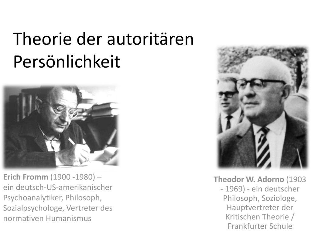 Theorie der autoritären Persönlichkeit
