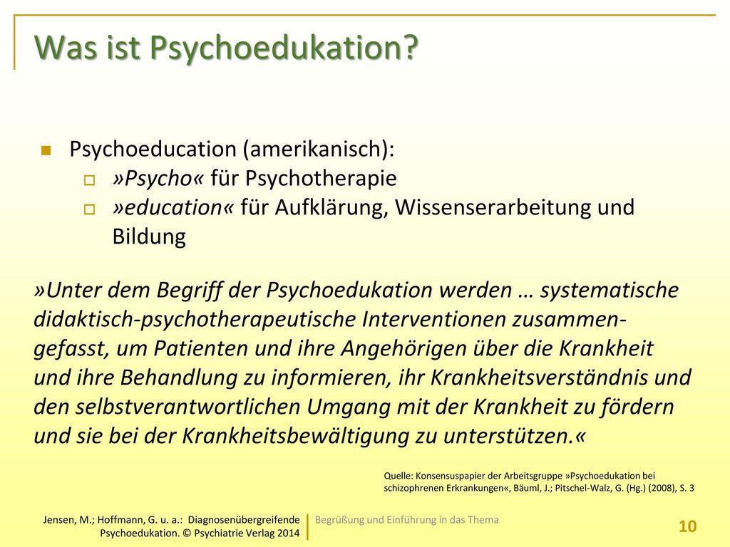 Was ist Psychoedukation