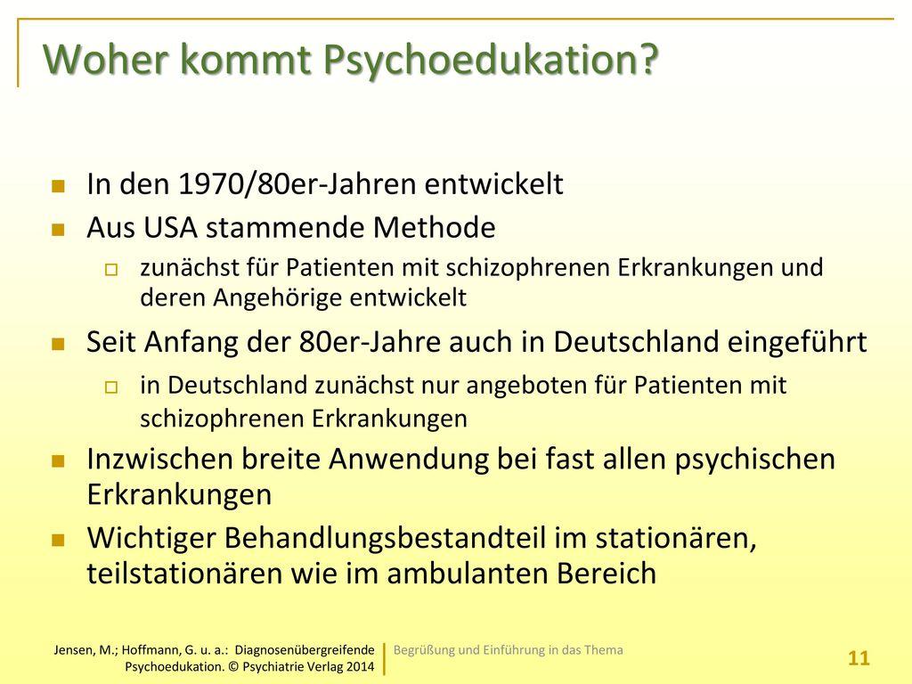 Woher kommt Psychoedukation