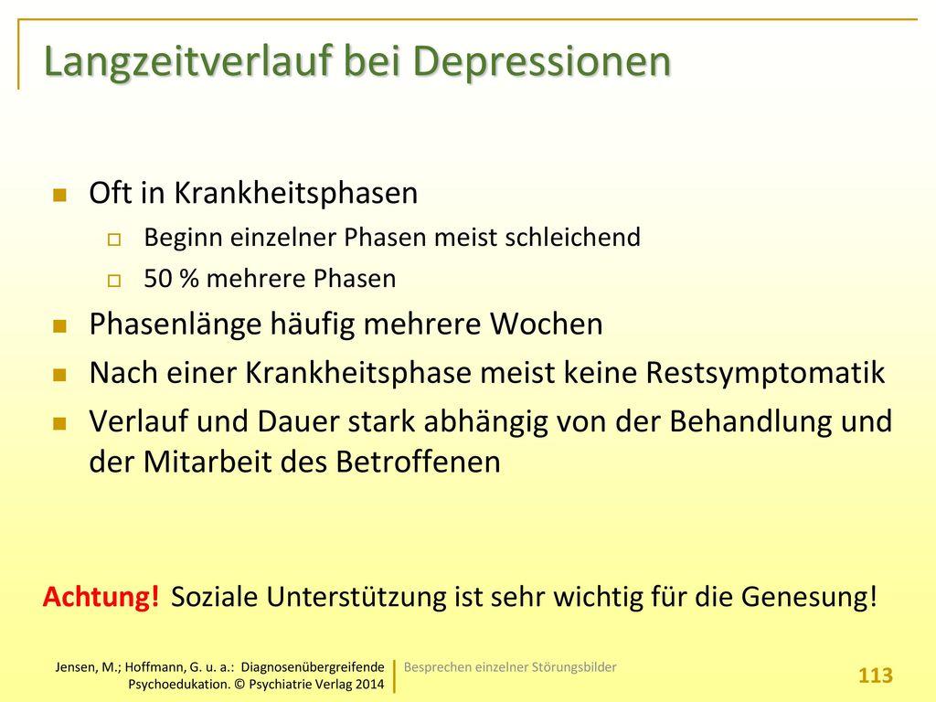 Langzeitverlauf bei Depressionen