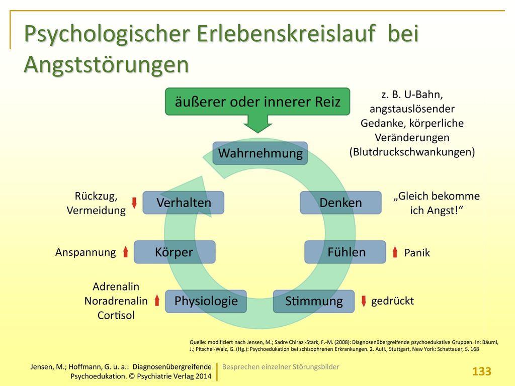 Psychologischer Erlebenskreislauf bei Angststörungen