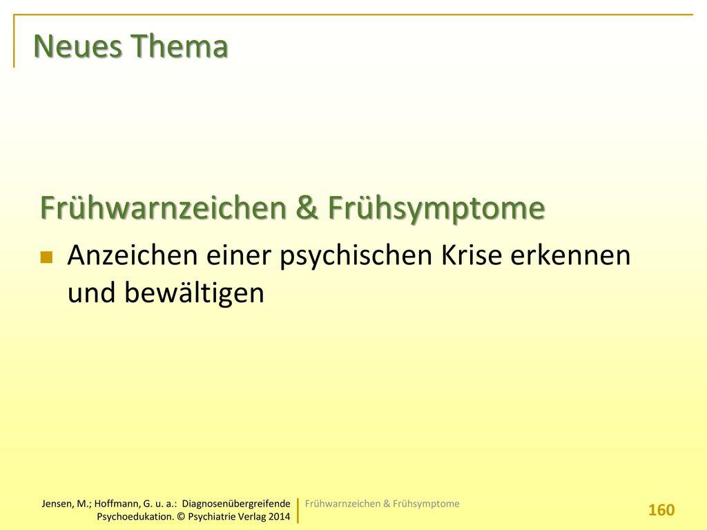 Frühwarnzeichen & Frühsymptome