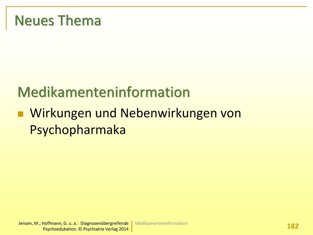 Medikamenteninformation