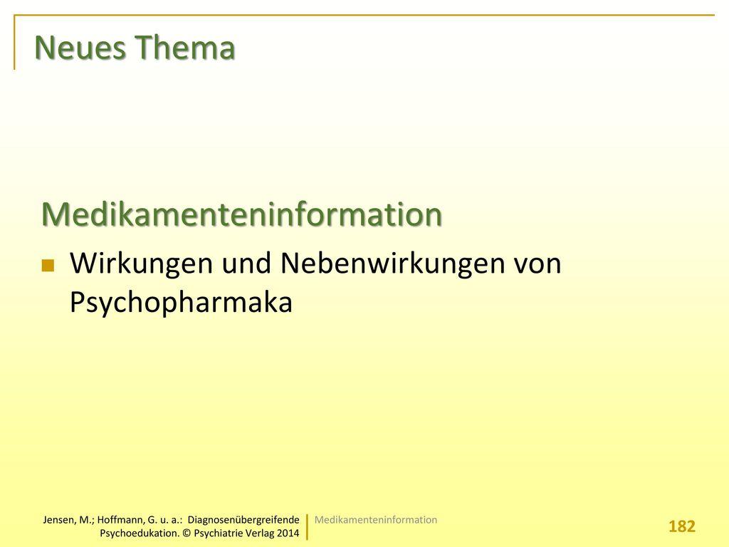 Medikamenteninformation