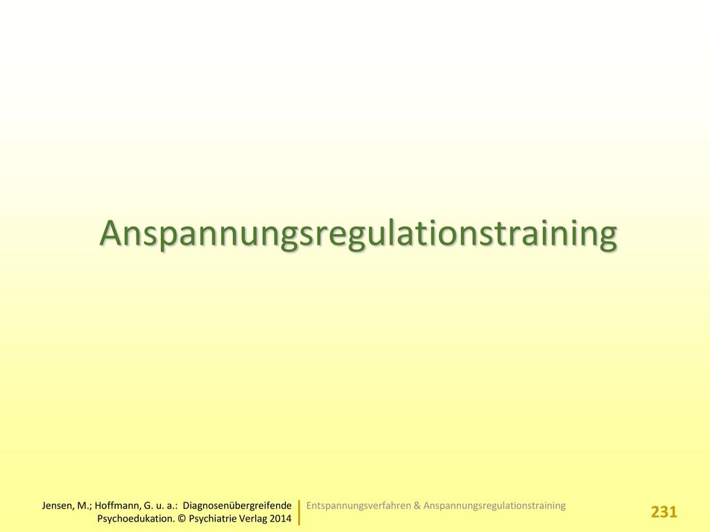 Anspannungsregulationstraining