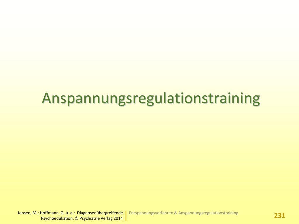 Anspannungsregulationstraining