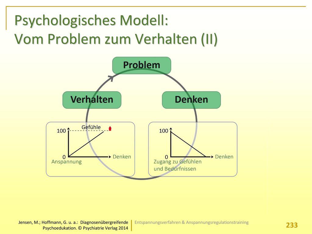 Psychologisches Modell: Vom Problem zum Verhalten (II)