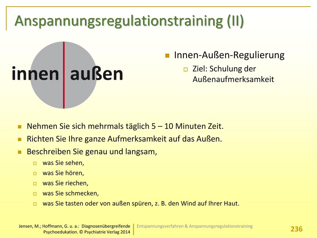 Anspannungsregulationstraining (II)