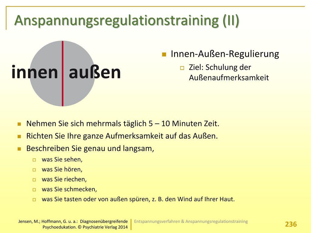 Anspannungsregulationstraining (II)