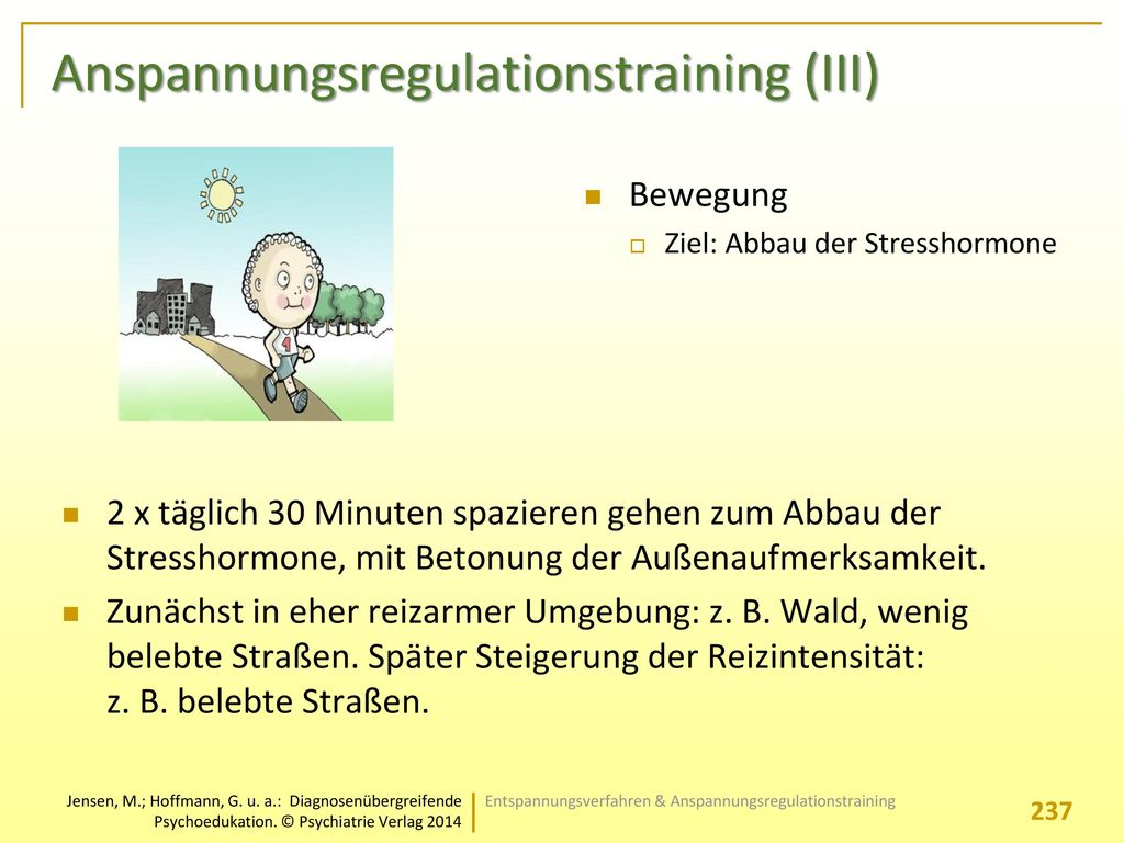Anspannungsregulationstraining (III)