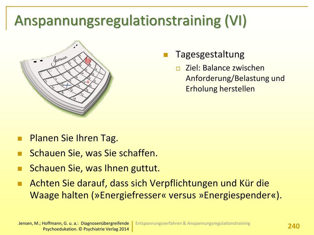 Anspannungsregulationstraining (VI)