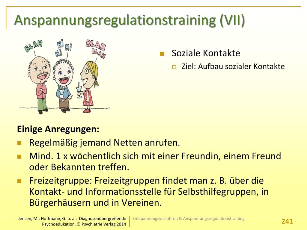 Anspannungsregulationstraining (VII)