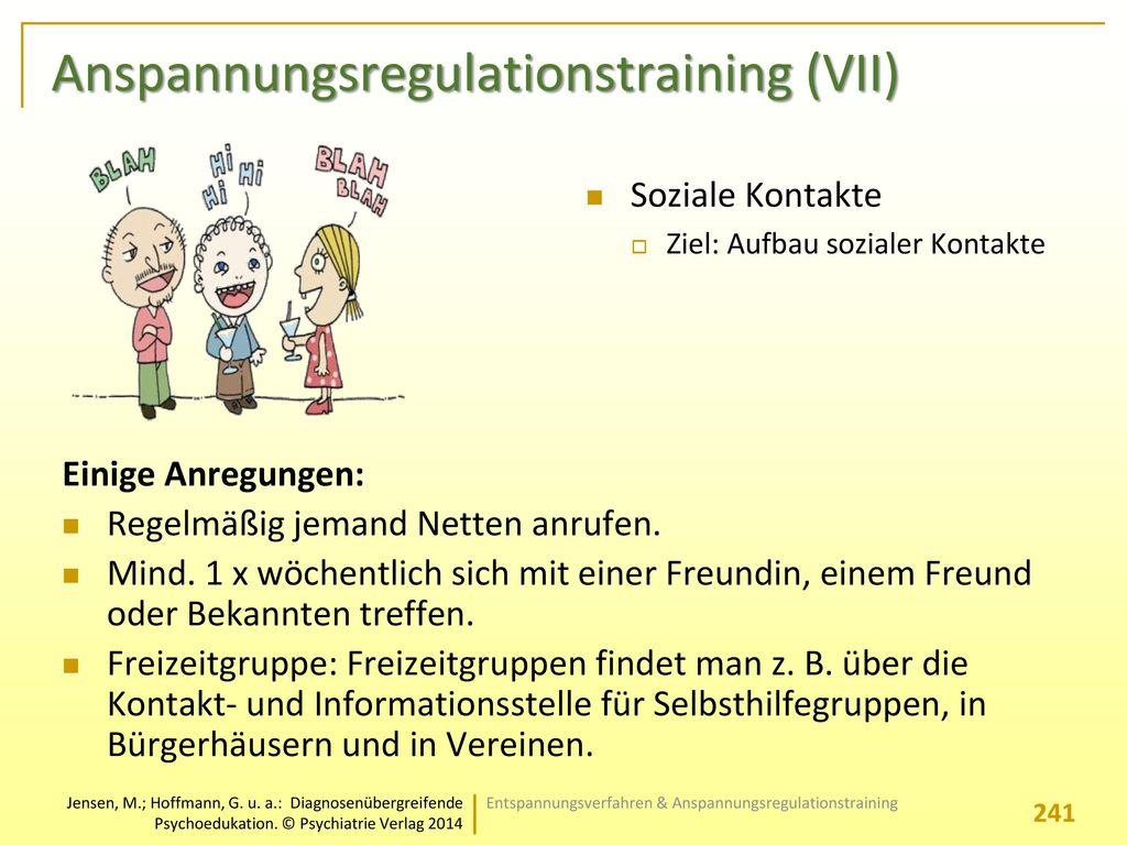 Anspannungsregulationstraining (VII)