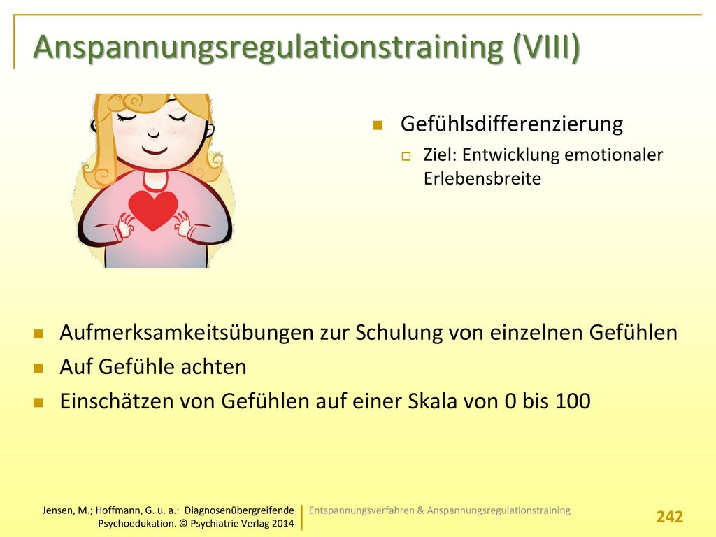 Anspannungsregulationstraining (VIII)