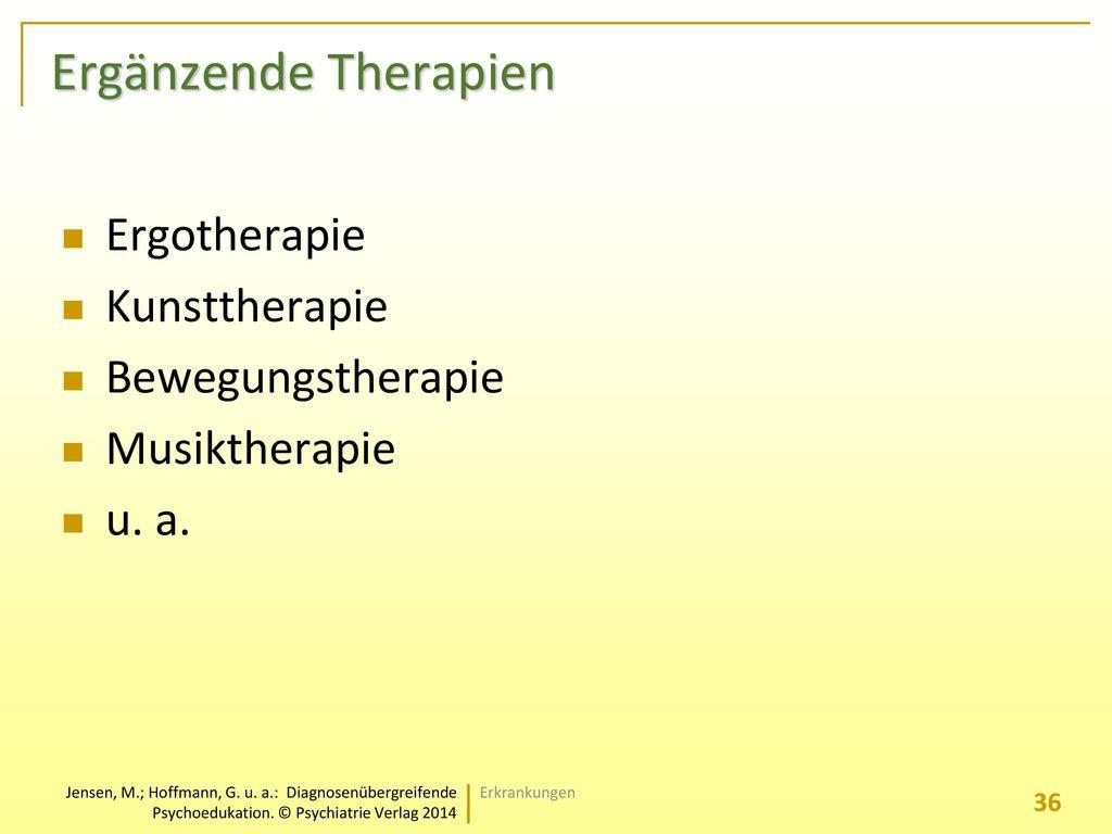 Ergänzende Therapien Ergotherapie Kunsttherapie Bewegungstherapie