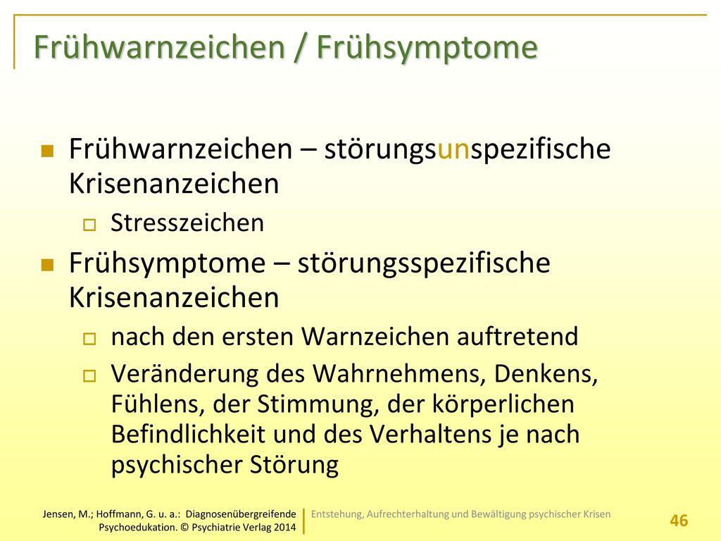 Frühwarnzeichen / Frühsymptome
