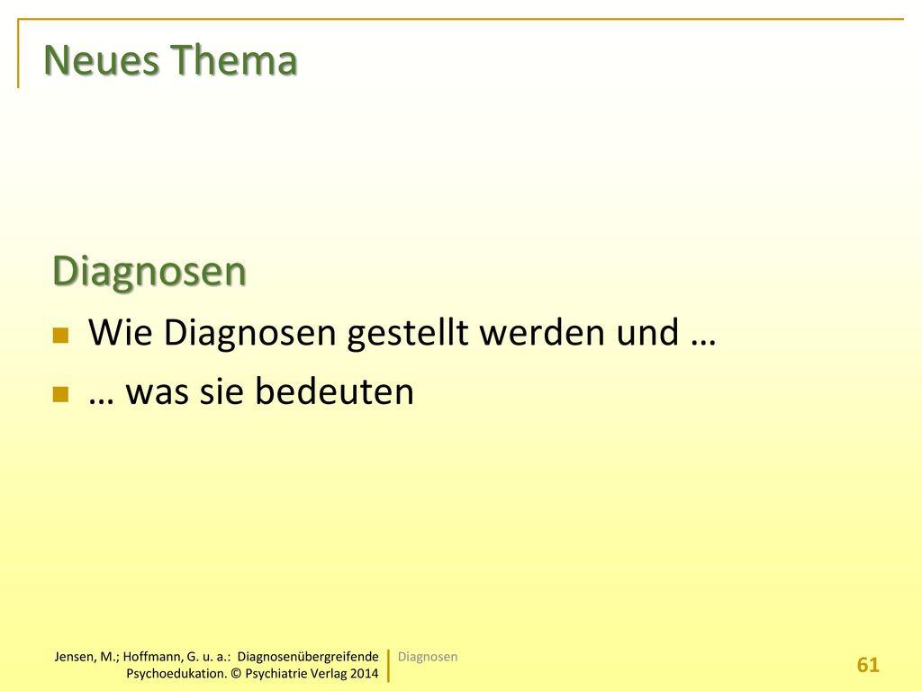 Neues Thema Diagnosen Wie Diagnosen gestellt werden und …