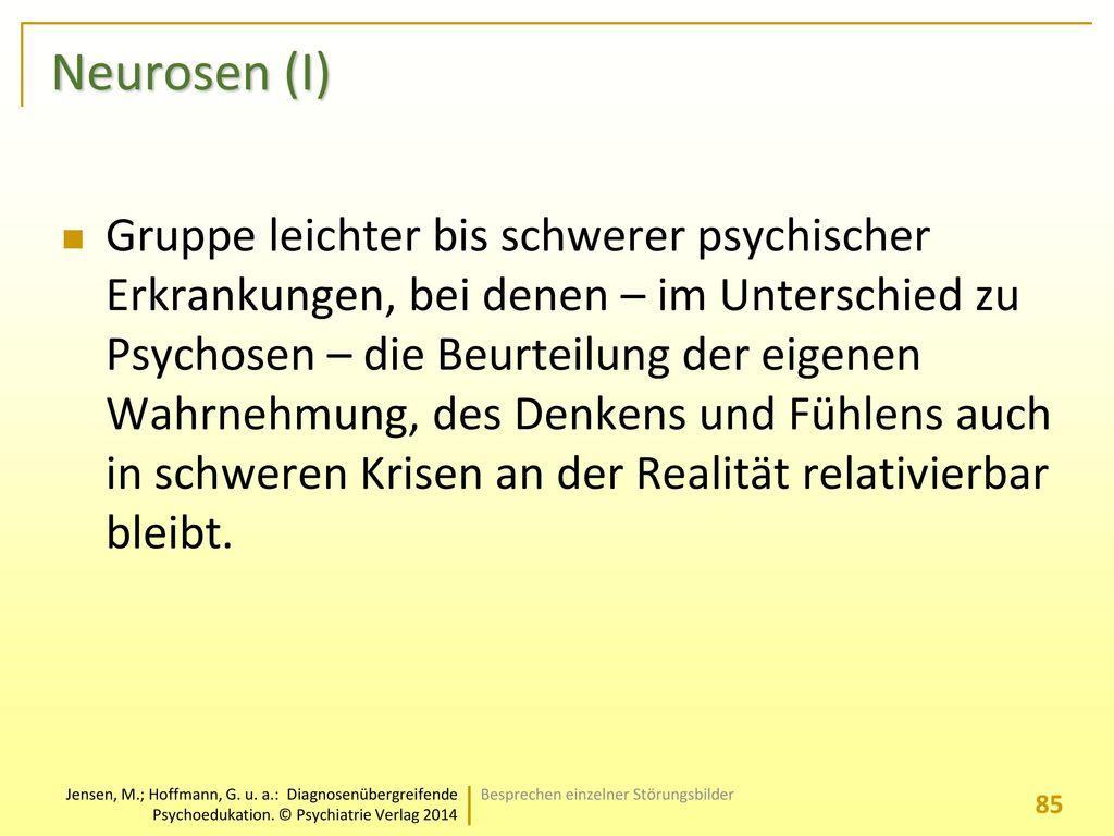 Neurosen (I)