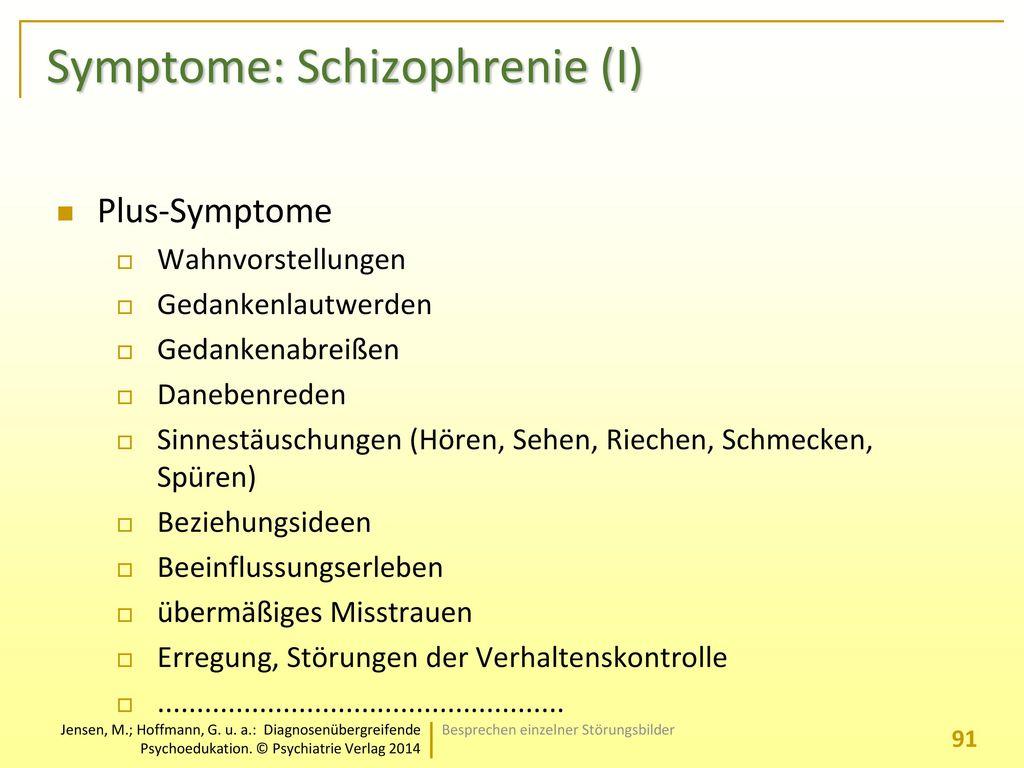 Symptome: Schizophrenie (I)