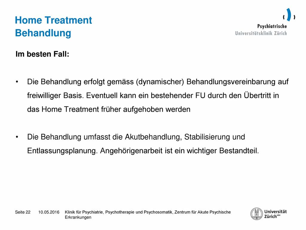 Home Treatment Behandlung