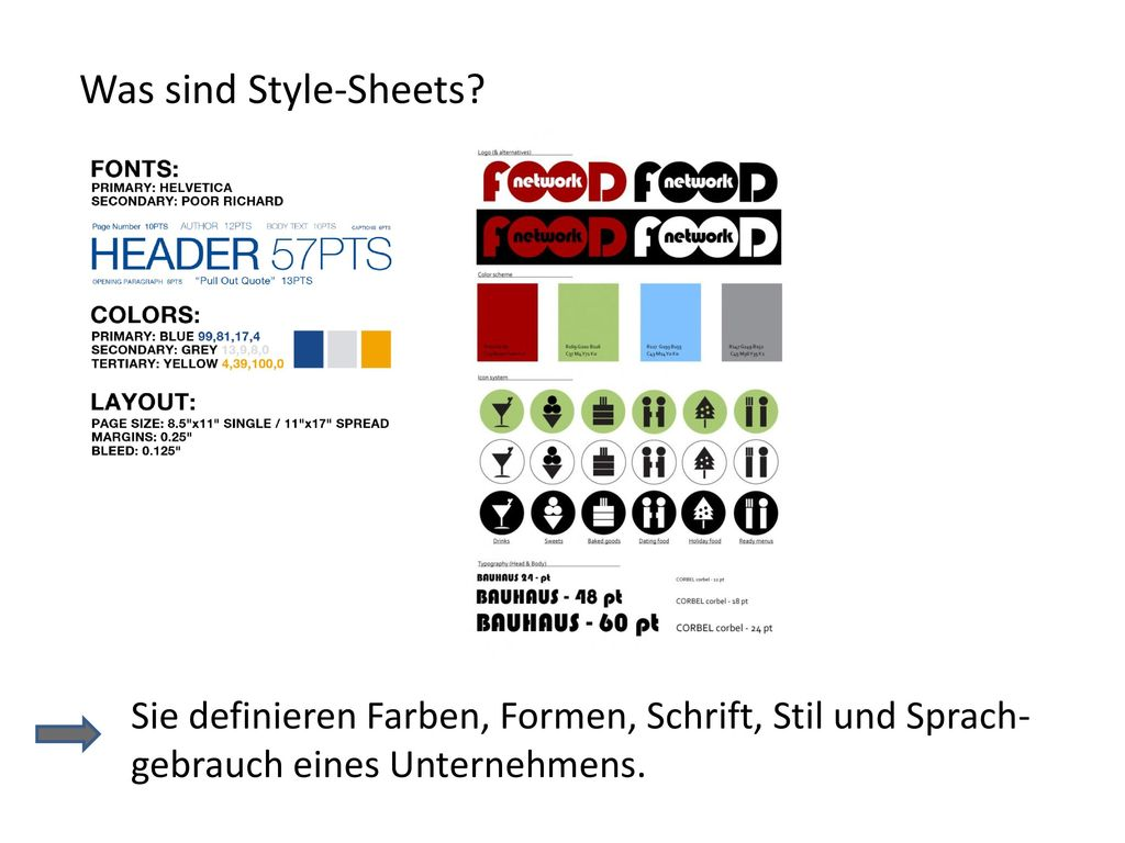 Was sind Style-Sheets.