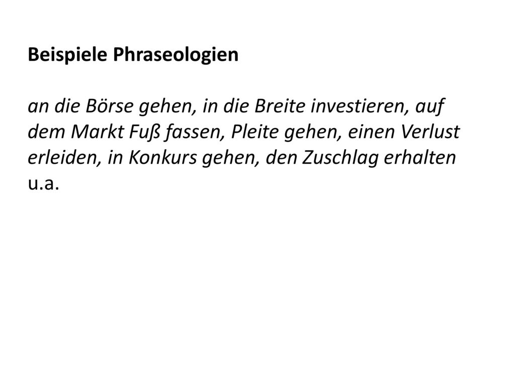 Beispiele Phraseologien