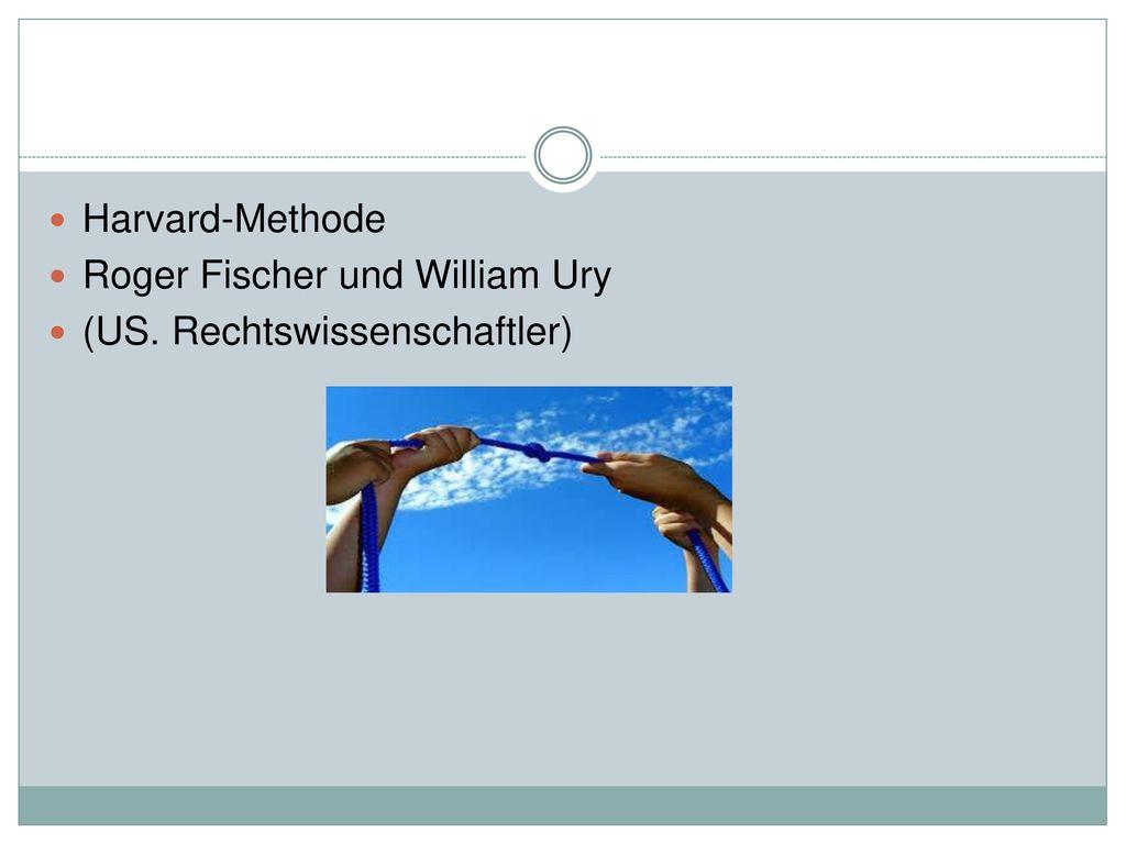 Harvard-Methode Roger Fischer und William Ury (US. Rechtswissenschaftler)