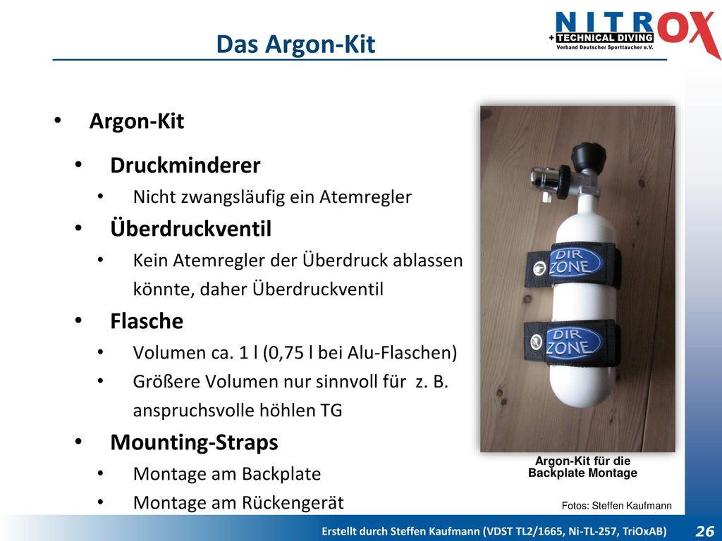 Argon-Kit für die Backplate Montage