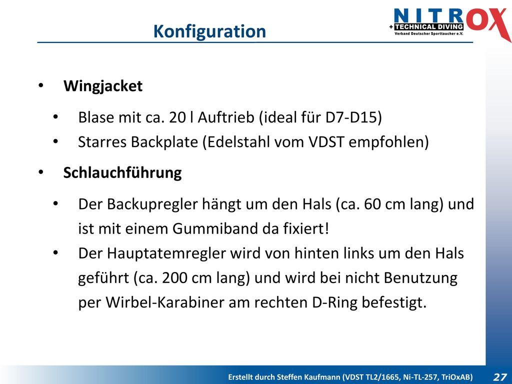 Konfiguration Wingjacket