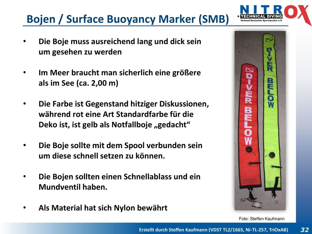 Bojen / Surface Buoyancy Marker (SMB)