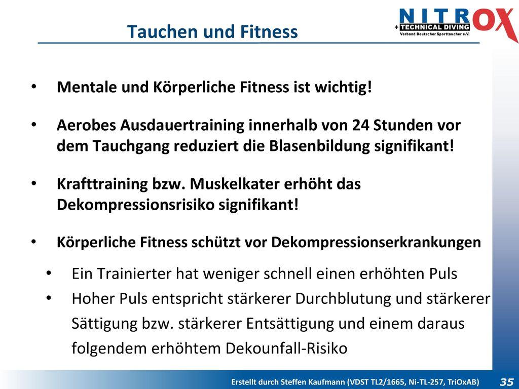 Tauchen und Fitness Mentale und Körperliche Fitness ist wichtig!