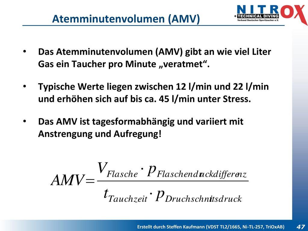 Atemminutenvolumen (AMV)
