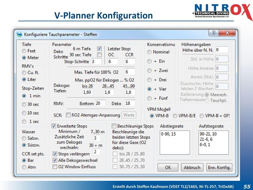 V-Planner Konfiguration