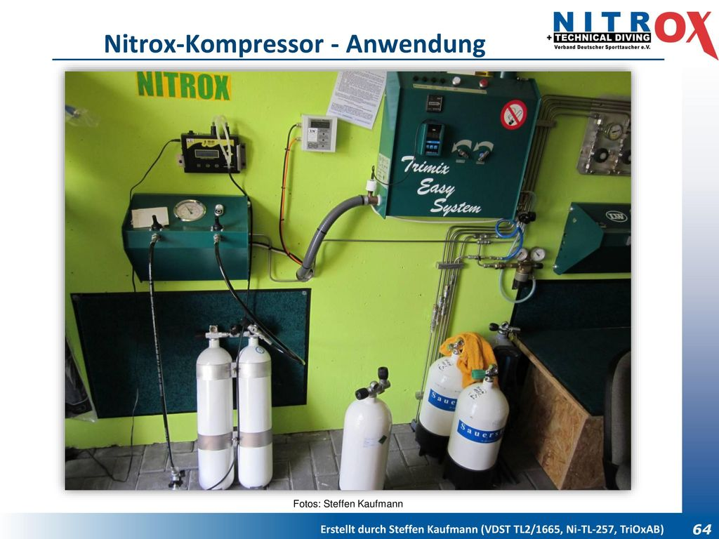 Nitrox-Kompressor - Anwendung