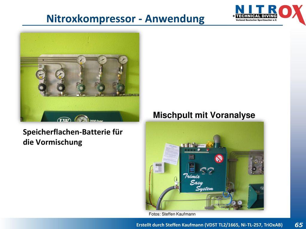 Nitroxkompressor - Anwendung