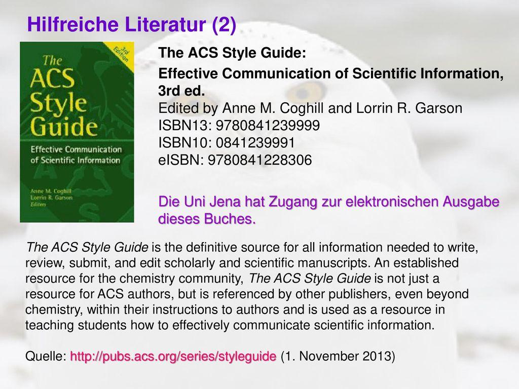 Hilfreiche Literatur (2)