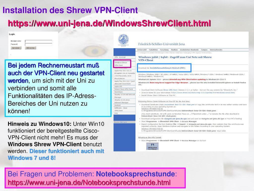 Installation des Shrew VPN-Client