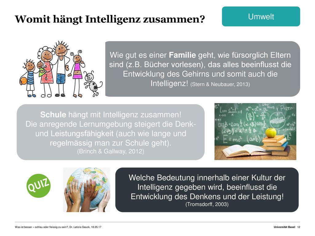 Womit hängt Intelligenz zusammen