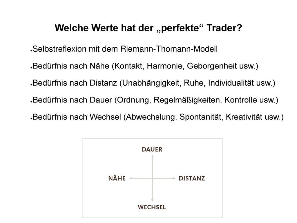 """Welche Werte hat der """"perfekte Trader"""