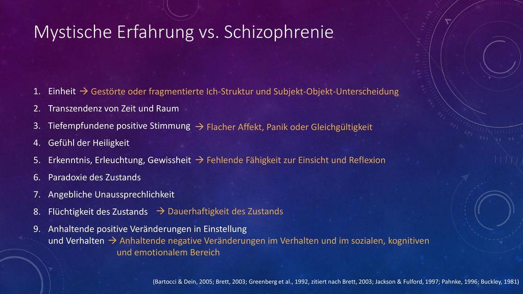 Mystische Erfahrung vs. Schizophrenie
