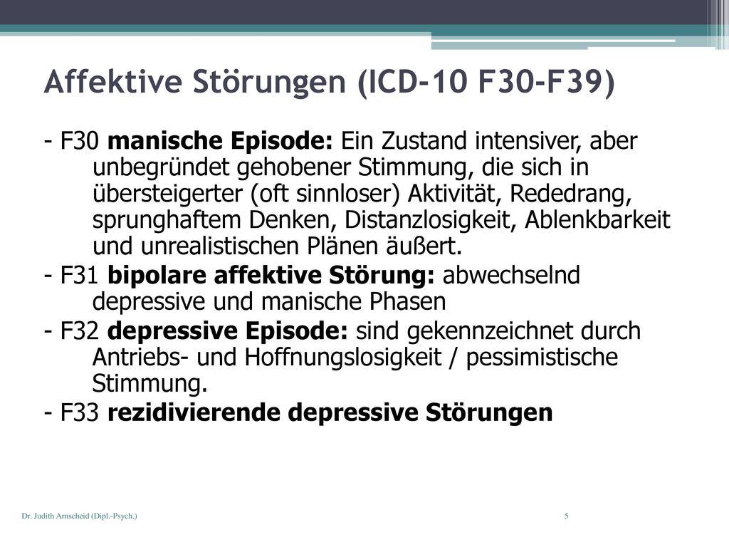 Affektive Störungen (ICD-10 F30-F39)