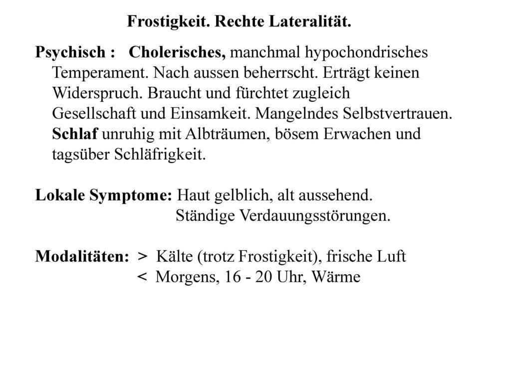 keinen durst symptome