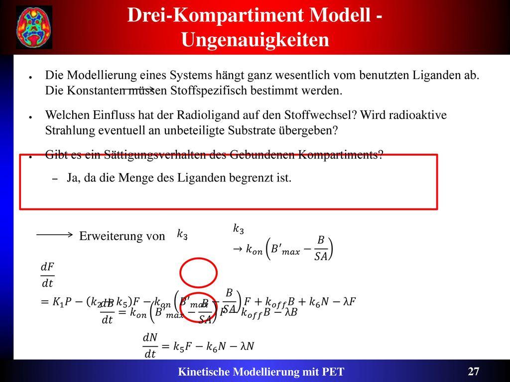 Drei-Kompartiment Modell - Ungenauigkeiten