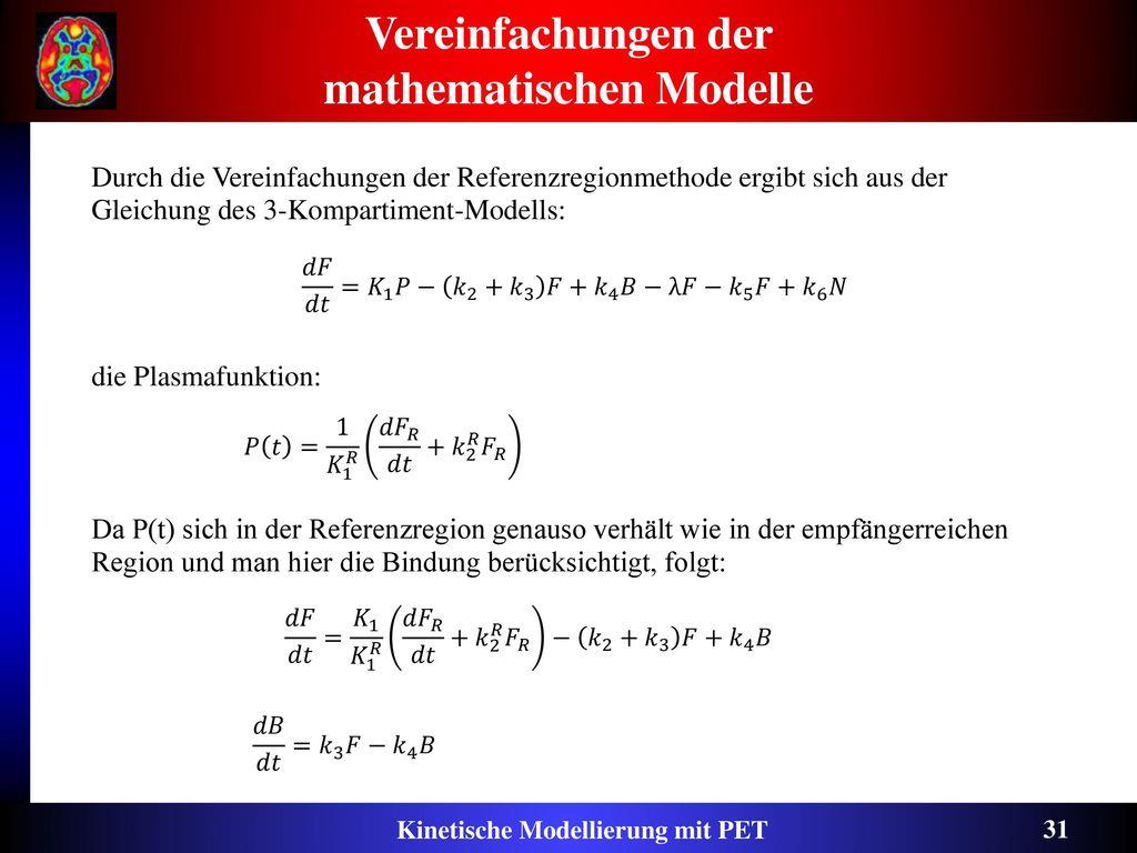 Vereinfachungen der mathematischen Modelle