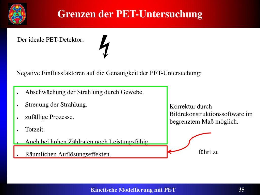 Grenzen der PET-Untersuchung