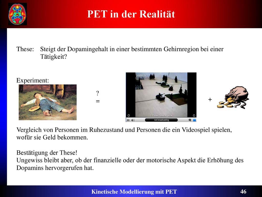 Kinetische Modellierung mit PET