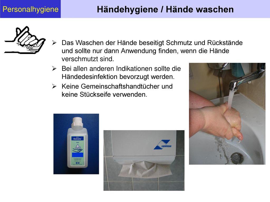 Händehygiene / Hände waschen