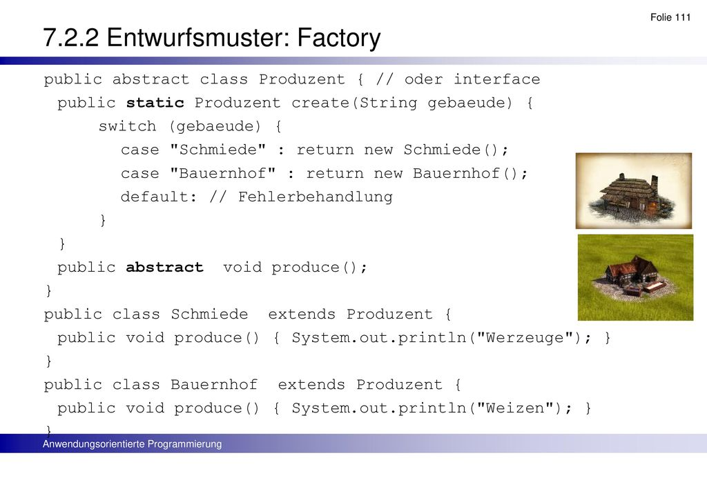 7.2.2 Entwurfsmuster: Factory